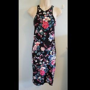 Express Bodycon Racerback Floral Dress